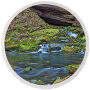 Maiden Springs Round Beach Towel