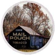 Mail Pouch Barn Round Beach Towel