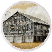 Mail Pouch Barn - Us 30 #3 Round Beach Towel