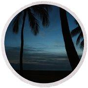 Ma'ili Beach After Sunset Round Beach Towel