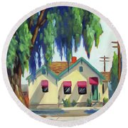 Maily House - Eagle, Idaho Round Beach Towel