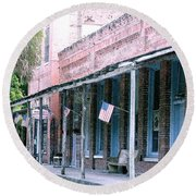 Main Street Micanopy Florida Round Beach Towel