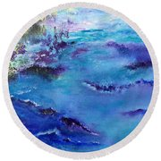 Maine Coast, First Impression Round Beach Towel