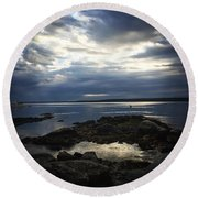 Maine Drama Round Beach Towel