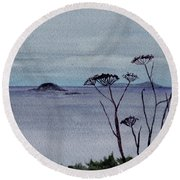 Maine Moody Distance Round Beach Towel