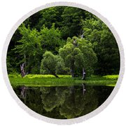 Maine Reflections Round Beach Towel