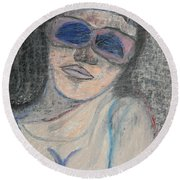 Maine Woman Round Beach Towel