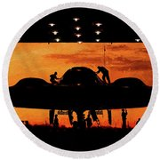 Round Beach Towel featuring the photograph Maintainer  by JC Findley