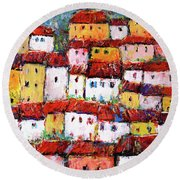 Maisons De Ville Round Beach Towel