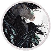 Majestic Dream Horse #138 Round Beach Towel