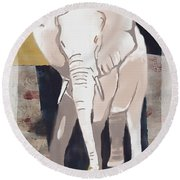 Majestic Elephant Round Beach Towel