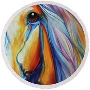 Majestic Equine 2016 Round Beach Towel