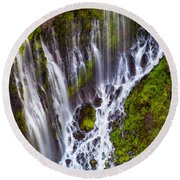 Majestic Falls Round Beach Towel
