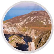 Majestic Glenlough - County Donegal, Ireland Round Beach Towel