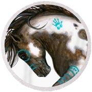 Majestic Horse #151 Round Beach Towel