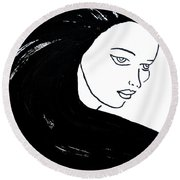 Majestic Lady J0715a Round Beach Towel