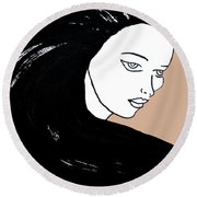 Majestic Lady J0715b Round Beach Towel