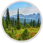 Majestic Meadows Round Beach Towel by Angelo Marcialis