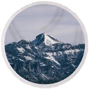 Majestic Morning On Pagosa Peak Round Beach Towel