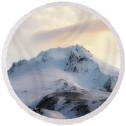 Majestic Mt. Hood Round Beach Towel