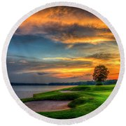 Round Beach Towel featuring the photograph Majestic Number 4 The Landing Reynolds Plantation Art by Reid Callaway
