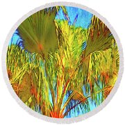 Majestic Palm Round Beach Towel by Gerhardt Isringhaus