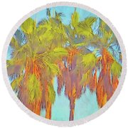 Majestic Palms Round Beach Towel by Gerhardt Isringhaus
