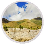 Majestic Rugged Australia Landscape  Round Beach Towel