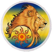 Majestic Soul Round Beach Towel