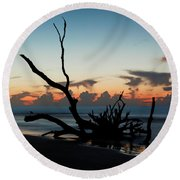 Round Beach Towel featuring the photograph Majestic Sunrise by Ronald Santini