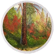 Majestic Tree 1 Round Beach Towel