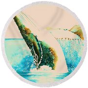 Majesty Round Beach Towel