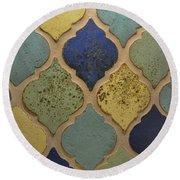 Round Beach Towel featuring the photograph Majorelle Blue by Jamart Photography