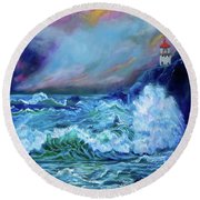 Makapuu Light House Round Beach Towel