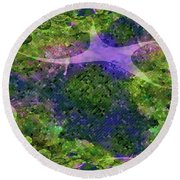 Round Beach Towel featuring the digital art Make A Wish by Claire Bull