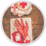 Make Your Own Frankenstein Medical Kit  Round Beach Towel
