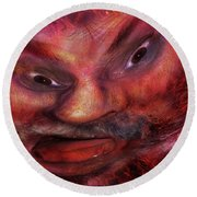 Making Faces  Round Beach Towel