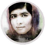 Malala Yousaf Zai 10 Round Beach Towel