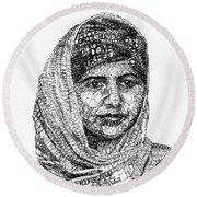 Malala Yousafzai Round Beach Towel