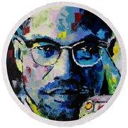 Malcolm X Round Beach Towel