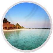 Maldives Morning Round Beach Towel