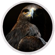 Maleficent Golden Eagle Round Beach Towel