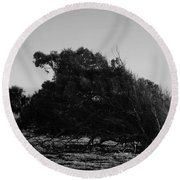 Round Beach Towel featuring the photograph Malformed Treeline by Clayton Bruster