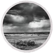 Malheur Storms Clouds Round Beach Towel