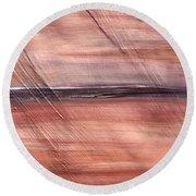 Malibu #32 Seascape Landscape Original Fine Art Acrylic On Canvas Round Beach Towel