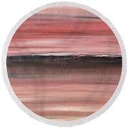 Malibu #34 Seascape Landscape Original Fine Art Acrylic On Canvas Round Beach Towel