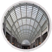 Mall Ceiling Round Beach Towel