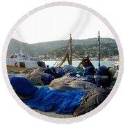 Round Beach Towel featuring the photograph Mallorca 2 by Ana Maria Edulescu