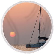 Round Beach Towel featuring the photograph Mallorca 3 by Ana Maria Edulescu