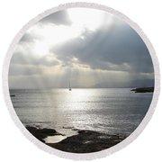 Round Beach Towel featuring the photograph Mallorca by Ana Maria Edulescu